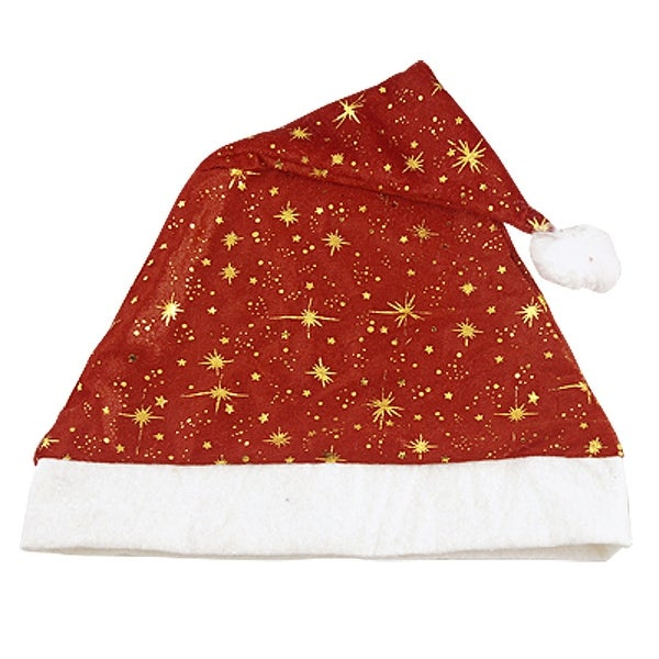 Unique Bargains Adult White Pom-pom Top Rim Red Santa Claus Christmas Hat Kphnq