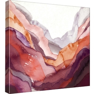 """PTM Images 9-97826  PTM Canvas Collection 12"""" x 12"""" - """"New Rose Quartz B"""" Giclee Abstract Art Print on Canvas"""