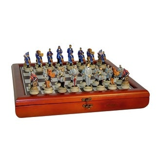 Civil War Generals Chess Set in Chest - Multicolored