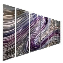 Statements2000 Purple / Earthtone Metal Wall Art Painting by Jon Allen - Wild Imagination