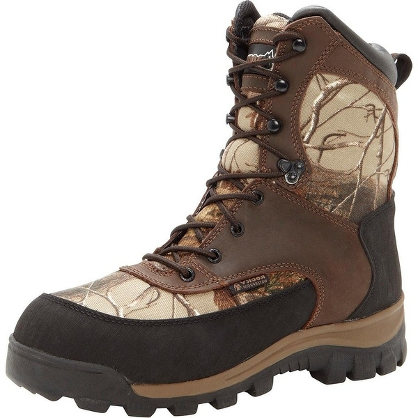 "Rocky Outdoor Boots Mens 8"" Core WP Brown Realtree Ap"