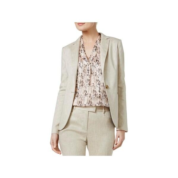 dcd3d8788d Shop Tommy Hilfiger Womens One-Button Blazer Twill Notch Collar - 6 ...