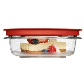 Rubbermaid 7H76-TR-CHILI Square Food Containers, 3 Cup