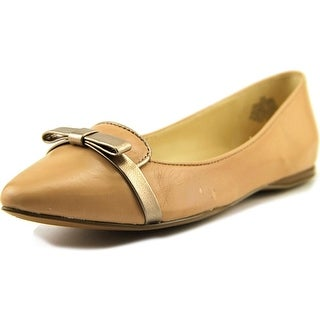 Nine West Saxiphone Women Pointed Toe Leather Nude Flats