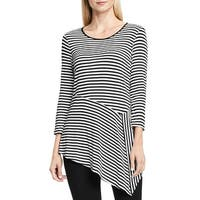 Vince Camuto Womens Tunic Top Striped Asymmetric