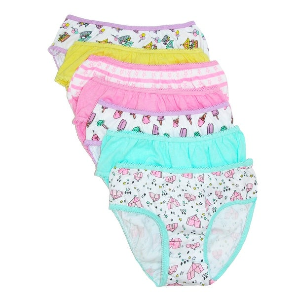 Rene Rofe Toddler Girl's Novelty Print Bikini Underwear (7 Pack)