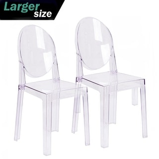 2xhome   Set Of Two (2)   Clear Chair Plastic Chair Designer Armless Side