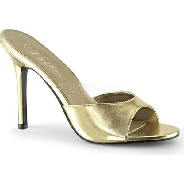 f0f447b79292 Shop Pleaser Women's Classique 01 High Heel Slide Gold Metallic PU - Free  Shipping On Orders Over $45 - Overstock - 14649870