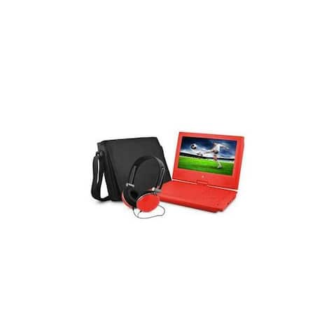 Ematic epd909rd 9 dvd player bundle red