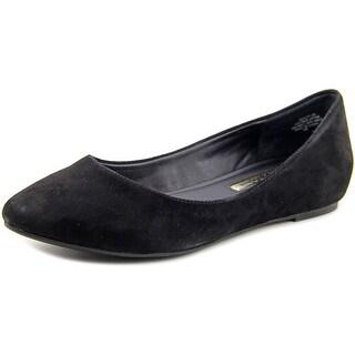 Audrey Brooke Mojito Women  Round Toe Suede Black Flats