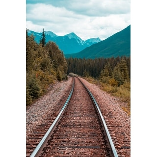 Railroad Tracks Canvas Print Wall Art