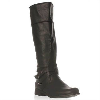 Just Fab Womens Callie Closed Toe Mid-Calf Working Boots