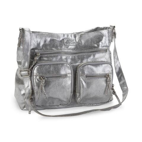 Aeropostale Womens Metallic Crossbody Shoulder Handbag Purse - Extra Small (16 in. & Under)