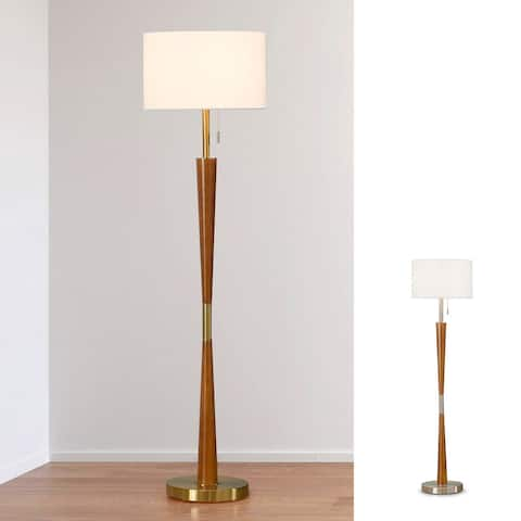 "HOMEGLAM Century 61""H Wood Floor lamp"