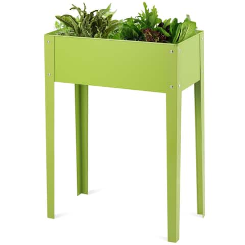 Costway 24'' x12'' Outdoor Elevated Garden Plant Stand Raised Tall