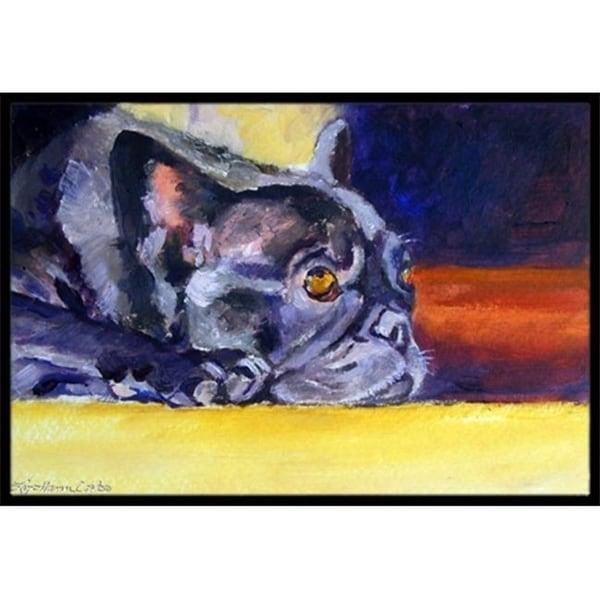 Carolines Treasures 7331JMAT Black French Bulldog Sunny Indoor & Outdoor Mat 24 x 36 in.