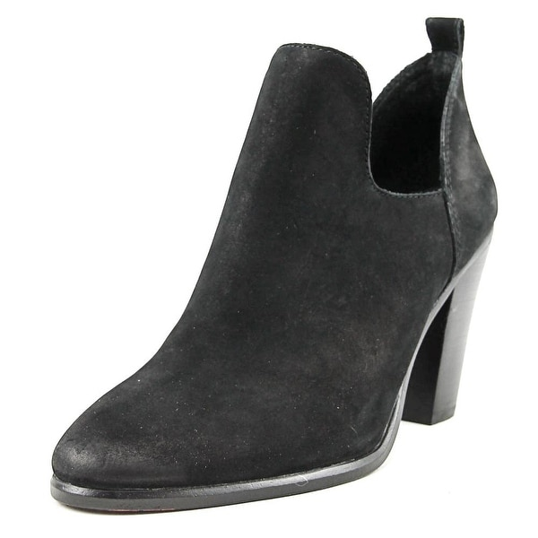 Vince Camuto Federa Women Round Toe Leather Black Bootie