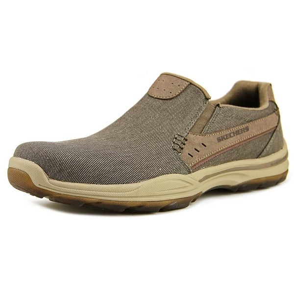 a751eaa5c02c Shop Skechers Element-Legon Men Round Toe Canvas Brown Loafer - Free ...