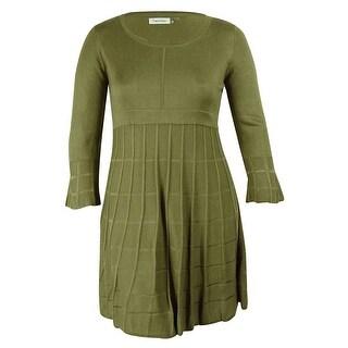 Calvin Klein Women's 3/4 Sleeve Sweater Dress - xL