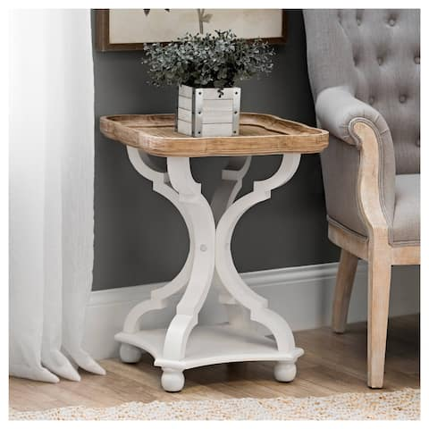 Rustic Farmhouse Tray Top End Table