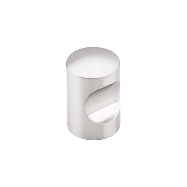 Top Knobs SS20 Stainless Steel 5/8 Inch Diameter Cylindrical Cabinet Knob - STAINLESS STEEL
