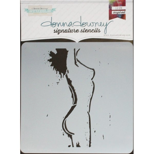 "Donna Downey Signature Stencils 8.5""X8.5""-Femme"