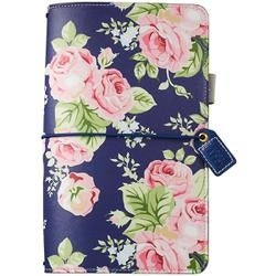 "Navy Floral - Color Crush Faux Leather Travelers' Planner 5.75""X8"""