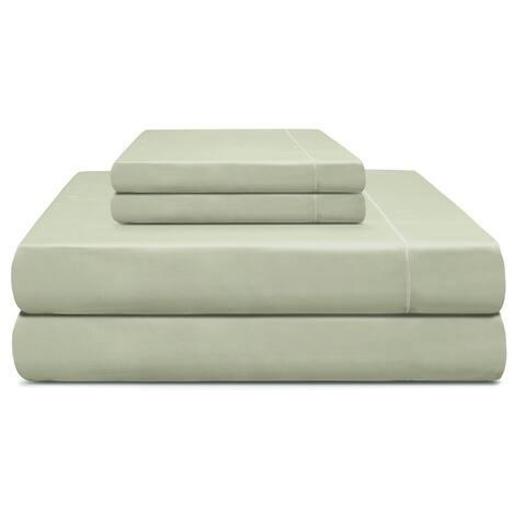 "Cooling Planet 610 TC Cotton Sheet set that fits Mattress upto 18"""
