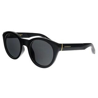 Givenchy GV7003/S D28 Shiny Black Round Sunglasses - no size