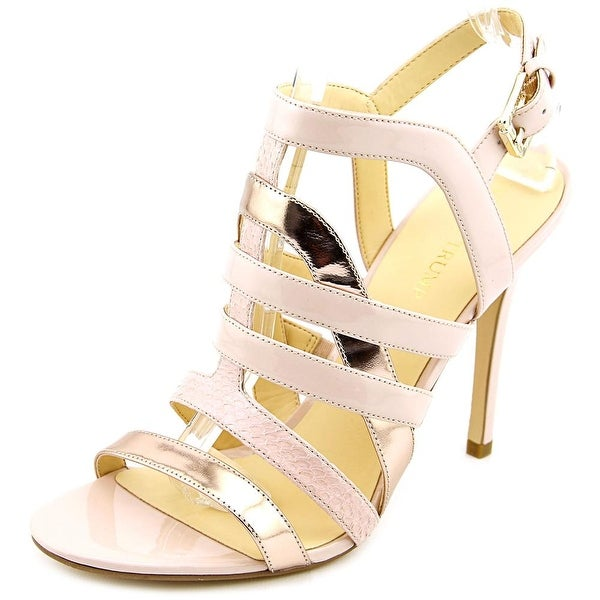Ivanka Trump Haslets Open Toe Patent Leather Sandals