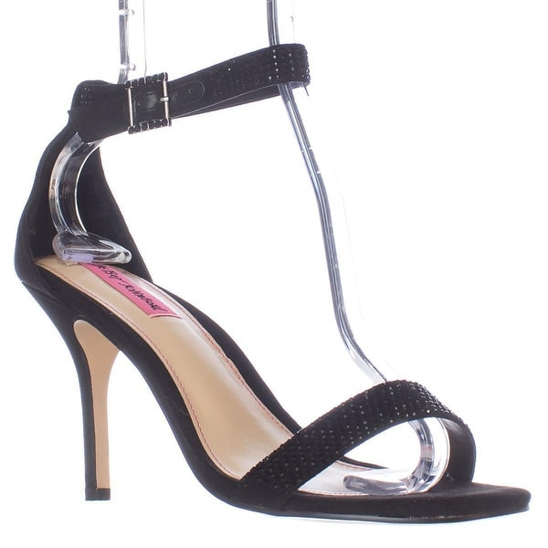 Betsey Johnson Brodway Ankle Strap Dress Sandals, Black
