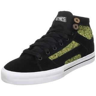 etnies Women's RSS High Skate Shoe - black/white/green