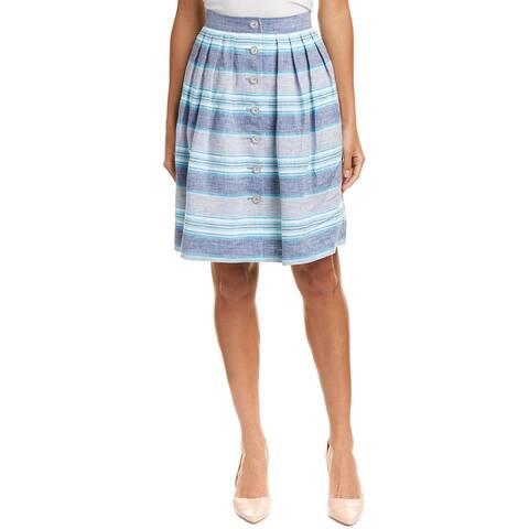 Brooks Brothers Linen A-Line Skirt