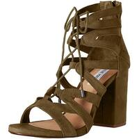 Steve Madden Womens Gal LaceUp Open Toe Casual Strappy Sandals