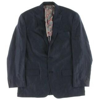 Michael Kors Mens Two-Button Suit Jacket Linen Textured - 40R