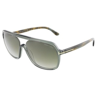Tom Ford FT0442/S 96B ROBERT Dark Shiny Green Crystal Square sunglasses