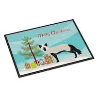 Silver Fox Christmas Indoor or Outdoor Mat, 24 x 36 in.