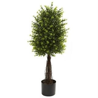 Nearly Natural 5413 35 ft. ft. Ixora Topiary UV Resistant - Indoor-Outdoor