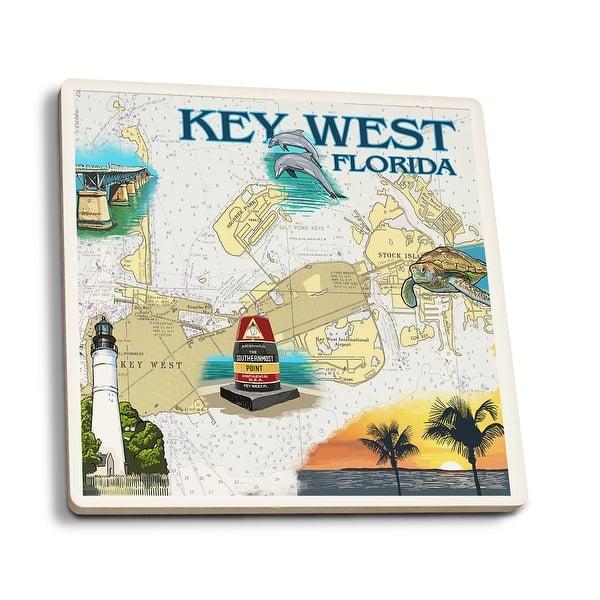 Shop Key West, Florida - Nautical Chart - Lantern Press