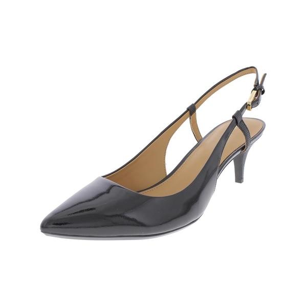 3dbf56adf38 Shop Calvin Klein Womens Patsi Slingback Heels Patent Leather Almond ...