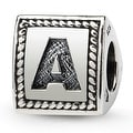 Sterling Silver Reflections Letter A Triangle Block Bead (4mm Diameter Hole) - Thumbnail 0