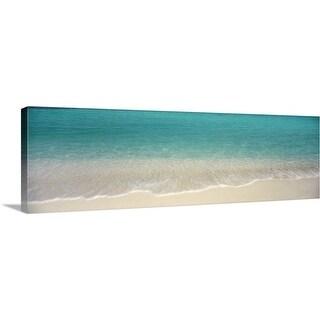 Premium Thick-Wrap Canvas entitled Waves Magens Bay St Thomas US Virgin Islands - Multi-color