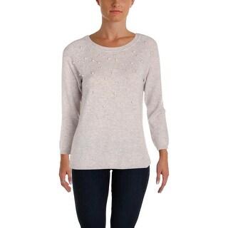 C Label Womens Crewneck Sweater Cashmere Beaded