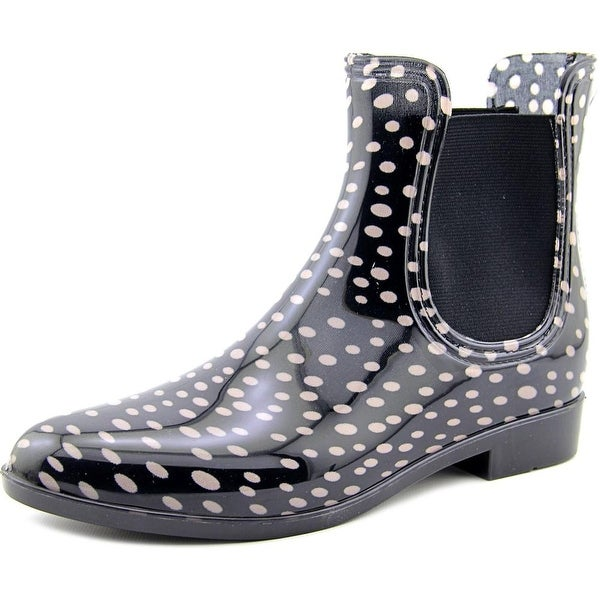 Nicole Miller New York Suzy Women Round Toe Synthetic Black Rain Boot