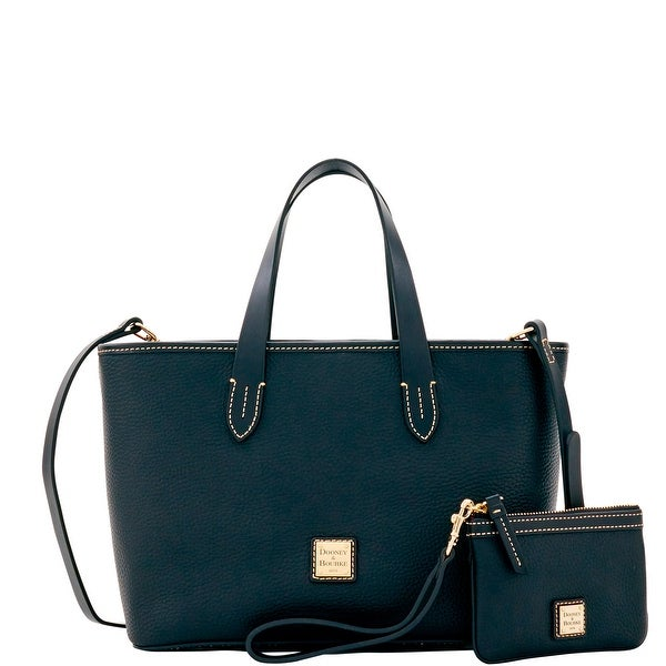 Dooney & Bourke Pebble Grain Small Briana & Med Wristlet (Introduced by Dooney & Bourke at $278 in Feb 2017) - Black