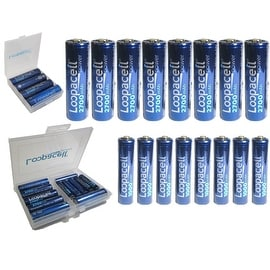 Best AA Loopacell Rechargeable Batteries- 8 AA 2700mAh And 8 AAA Ni-MH Cell+ Case