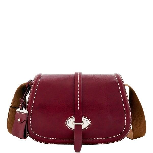 Dooney & Bourke Florentine Toscana Small Saddle Bag (Introduced by Dooney & Bourke at $398 in Sep 2016) - Bordeaux