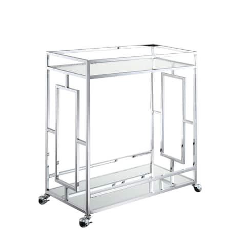 Silver Orchid Alberni Bar Cart