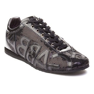 Dolce & Gabbana Men's Logo Sequined Trainer Shoes Black (2 options available)
