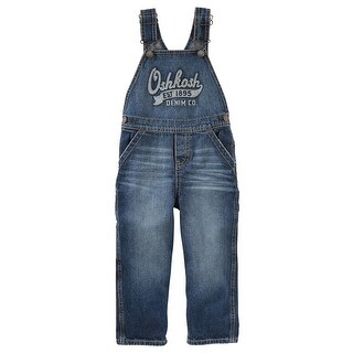 OshKosh B'gosh Little Boys' Denim Overalls - Holiday Dark, 4-Toddler